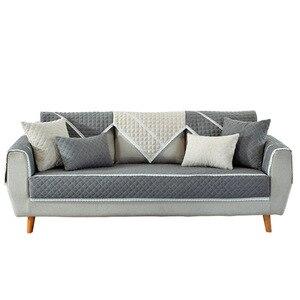 Image 1 - Funda de algodón suave para sofá, toalla para sala de estar, cubierta de banco bajo, funda para sofá cama, fundas de sofá de Navidad