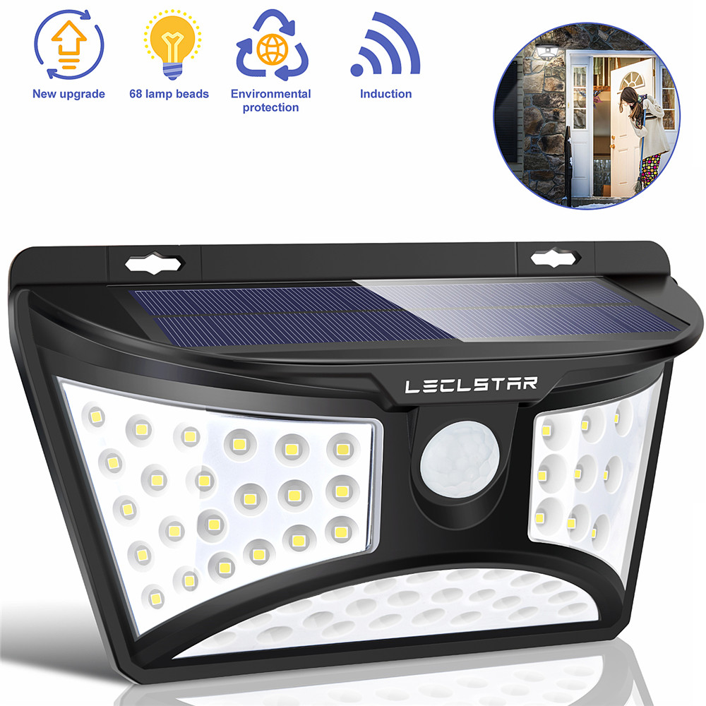 Led Solar Street Light Outdoor luminaire Garden Lights Solar Powered Street Lamp with Motion Sensor Lantern Plaza Wall Lighting
