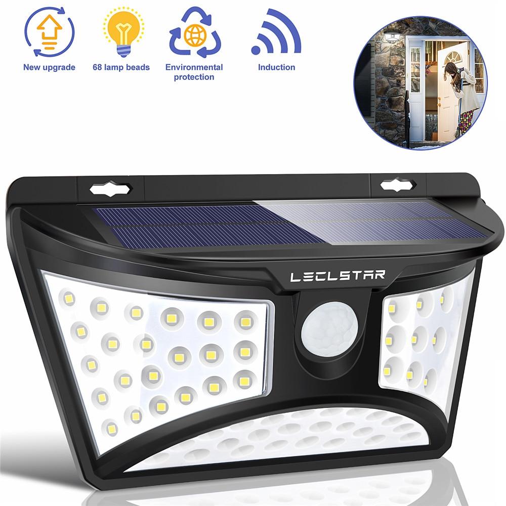 Led Solar Straße Licht Außen leuchte Garten Lichter Solar Street Lampe mit Motion Sensor Laterne Plaza Wand Beleuchtung