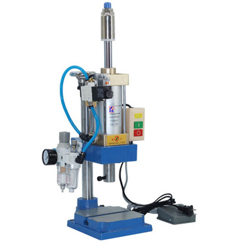 110V / 220V Column manual pneumatic press Pneumatic punching machine small adjustable force 200KG pneumatic punch 1pc handle type tube terminal special pressure line machine pneumatic cable pliers pneumatic hand held press