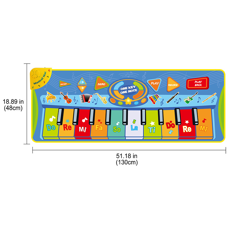 128*48 Pedal Instrument Blanket Yin Le Tan Game Blanket Children Early Education Crawl Pad Educational Toy