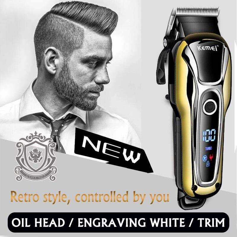 Salon de coiffure tondeuse à cheveux professionnel tondeuse à cheveux pour hommes barbe coupe-cheveux électrique coupe-cheveux coupe de cheveux sans fil filaire 5