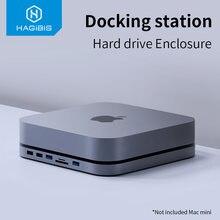 Hagibis USB-C Hub Met Sata Harde Schijf Behuizing Voor Mac Mini Usb 3.0 Hub Voor 2020 Nieuwe Mac Mini M1 type-C Ssd Case Sd/Tf Reader