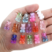 Pendant Charms Findings Necklace Bracelet Crystal Jewelry-Making DIY Christmas Candy Bear