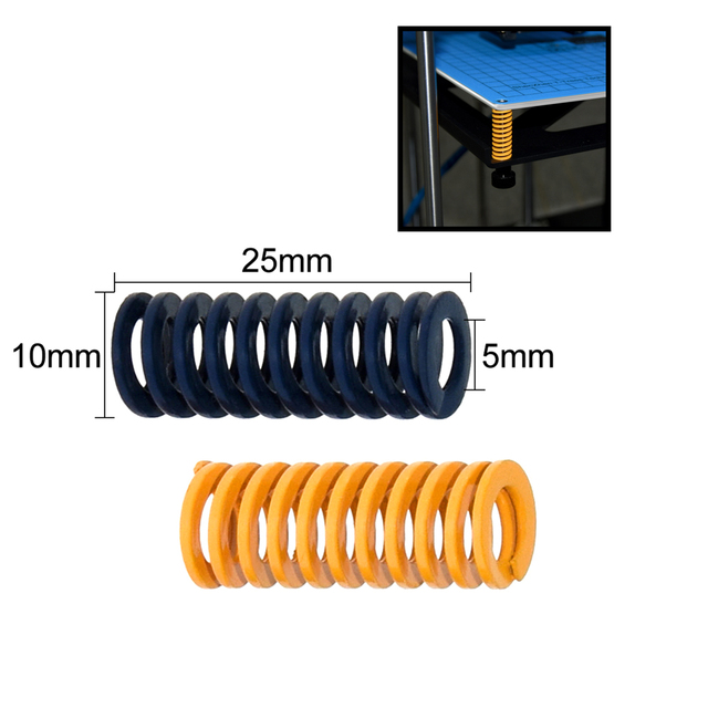 4pcs/10pcs 3D Printer Parts Spring Heated Bed 10*25MM Hot Plate 3D Printer Accessories Reprap Imported For Ender 3 Pro CR10 MK2A 1