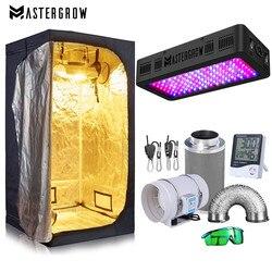 Grow Tent kompletny zestaw 600W oświetlenie led do uprawy + ciemne pomieszczenie + filtr zestaw wydechowy + hydroponika rośliny doniczkowe System uprawy akcesoria w Lampy LED do hodowania roślin od Lampy i oświetlenie na