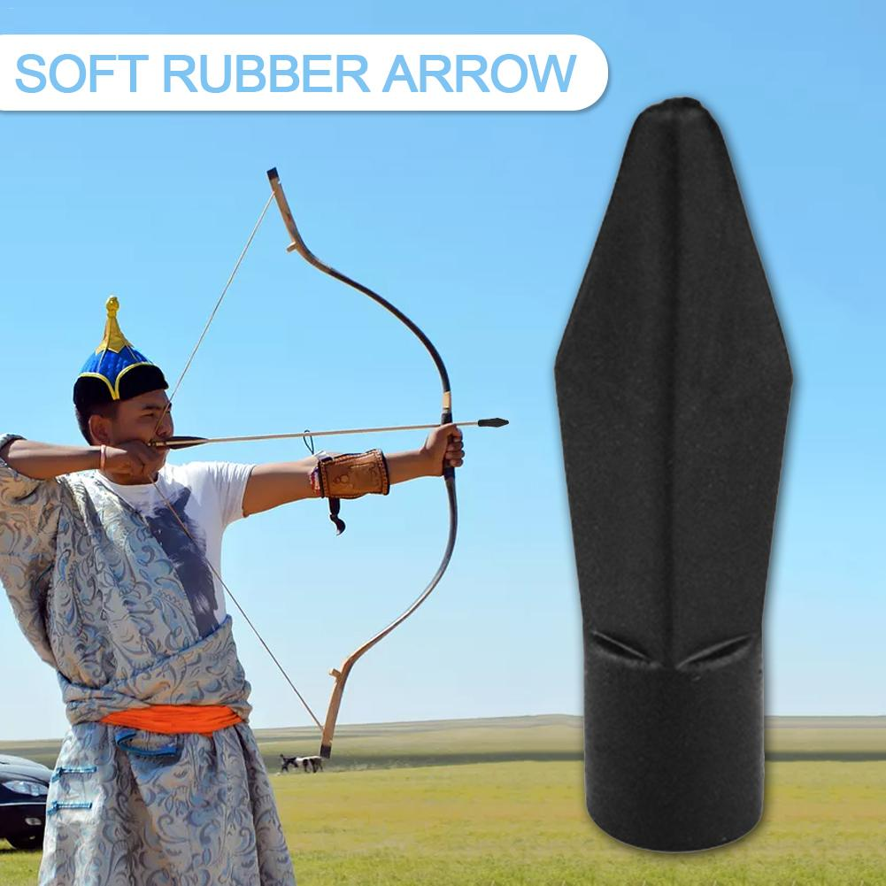 50PCS Soft Rubber Bow Safety 50 Arrowhead Hunting Game Practice Archery Equipment Arrow Wholesale