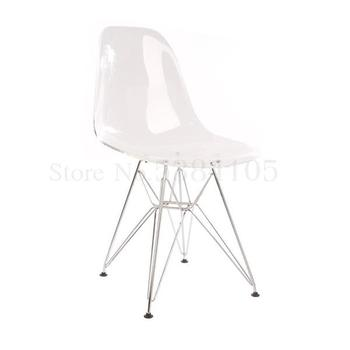 Nordic Style Transparent Acrylic Crystal Backrest Chair Light Luxury Creative Makeup Chair Net Red Ins Chair Plastic