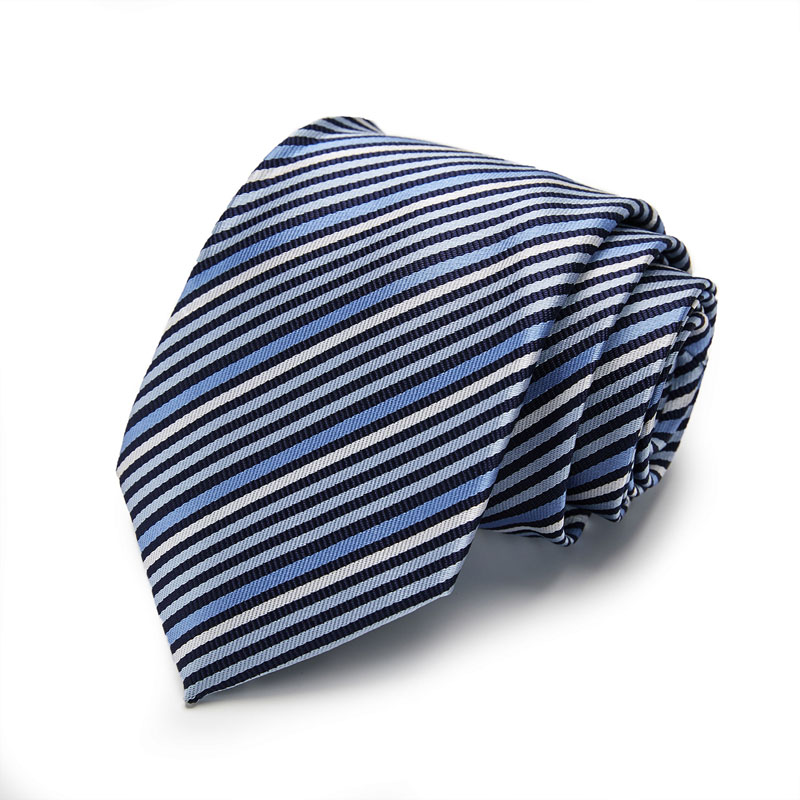 New Fashion style men ties set Extra Long Size 145cm 8cm Blue Striped Necktie Silk Jacquard Woven Neck Tie Suit Wedding Party in Men 39 s Ties amp Handkerchiefs from Apparel Accessories