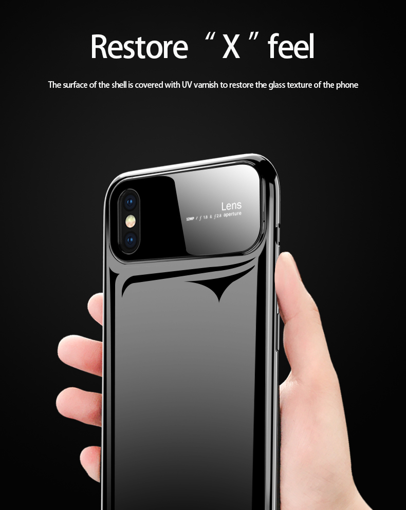 H608b37282b8d47278fb9eeb066529bfeK Plastic shell for iphone X XR XS MAX glass case iPhone 7 8 PLUS 11 Pro MAX ultra-thin anti-fall cover 360° surrounding shell