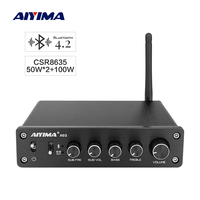 AIYIMA TPA3116 Bluetooth 2.1 Channel Amplifier HIFI Sound Amplifiers Audio Subwoofer Amp Digital 50W*2+100W