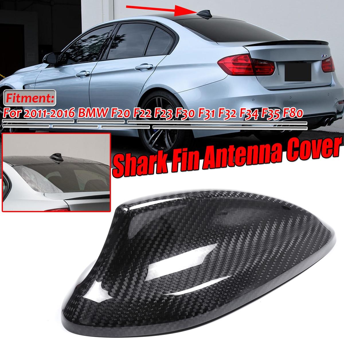 Yctze Carbon Fiber Shark Fin Antennenabdeckung Trim Car Modifikation Fit f/ür F22 F30 F32 2 3 4 Series