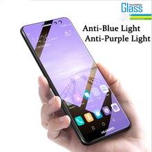 Anti Blue Purple light Tempered Glass For Xiaomi Redmi Note 5 6 7 Pro 4 Prime 5A 4A 5 Plus Mi A1 5X 9S Pro Max Screen Glass