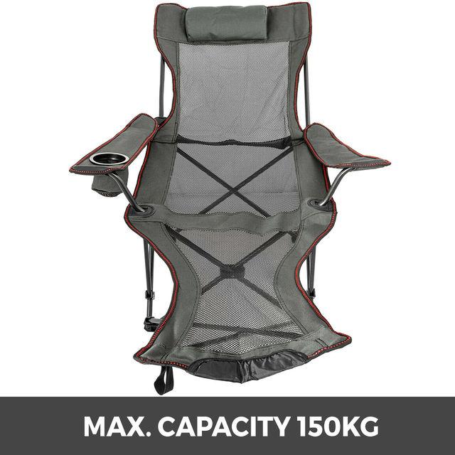 chaise de Camping VEVOR – chaise de Camping inclinable et pliante, avec repose-pieds, Portable, pour sieste, Camping en plein air, pêche, plage 3