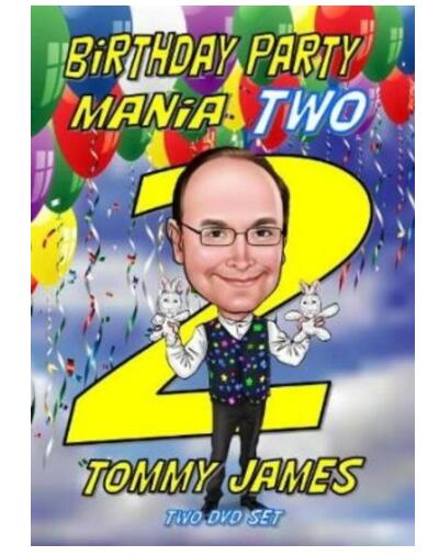 Birthday Party Mania 2 By Tommy James (2 DVD),  Magic Tricks