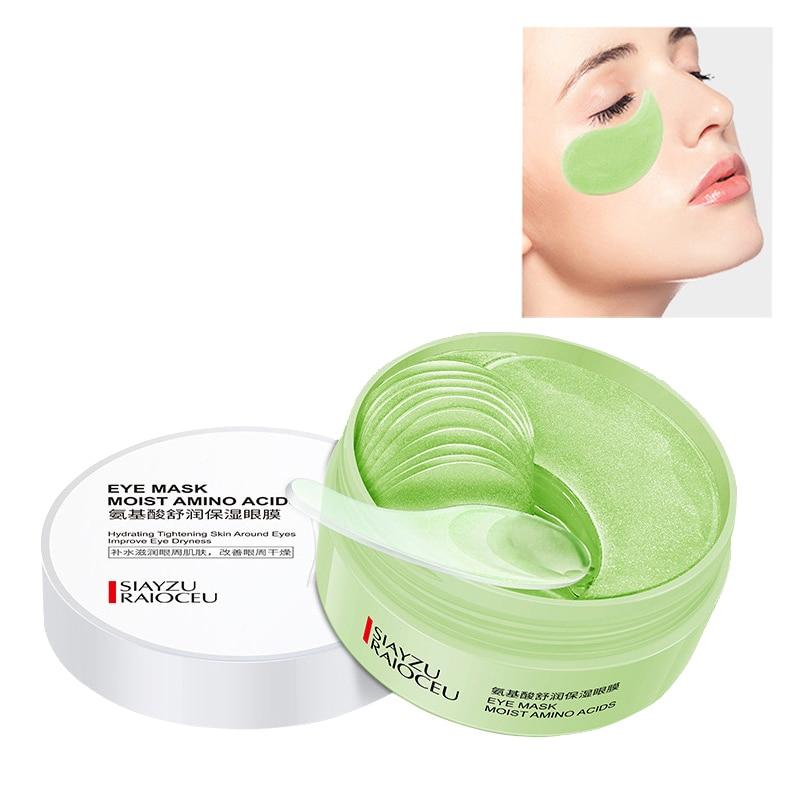 Moisturizing Eye Patch 60pcs Amino Acid Whitening Green Sleep Eyes Mask Care Korean Firming Remove Dark Circles Patches Women M