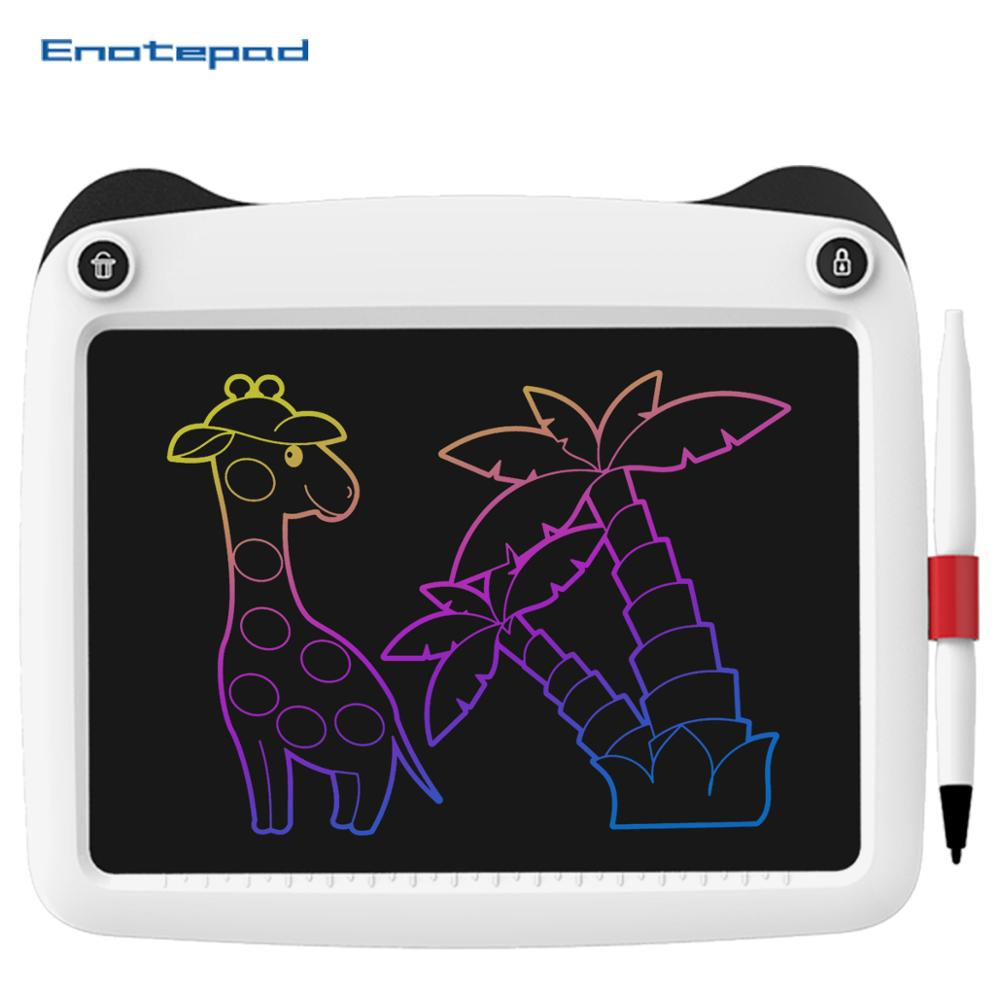 Enotepad 9 Inch Drawing Tablet Lcd Writing Tablet Eyes Protect Color Screen Digital Tabletor Kids Ultra-thin Graphic Board