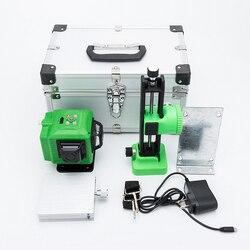 Nowy Leter 3D zielony Laser laserowy elektroniczny poziom lasera poziomującego