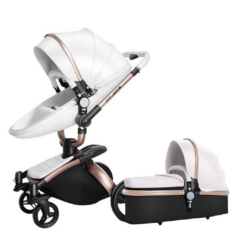 Free Shipping Luxury Baby Stroller 3 in 1 High land-scape Fashion Carriage European design Pram on 2019