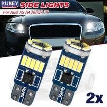 501 w5w t10 para audi a3 a4 a6 c5 c6 q7 tt xenon branco 15 smd led sidelight erro livre lâmpadas substituição