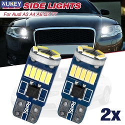 501 W5W T10 For Audi A3 A4 A6 C5 C6 Q7 TT Xenon White 15 SMD LED Sidelights Error Free Bulbs Replacement