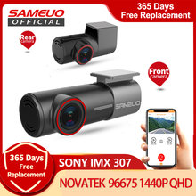 Sameuo – U700 caméra de tableau de bord avant et arrière FHD 1080P, DVR, dashcam, enregistreur vidéo automatique, vision nocturne, application, surveillance de stationnement 24H