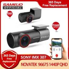 Sameuo u700 traço cam frente e traseira wifi 2k 1080p carro dvr câmera traço gravador de vídeo automático visão noturna app 24h estacionamento monitor