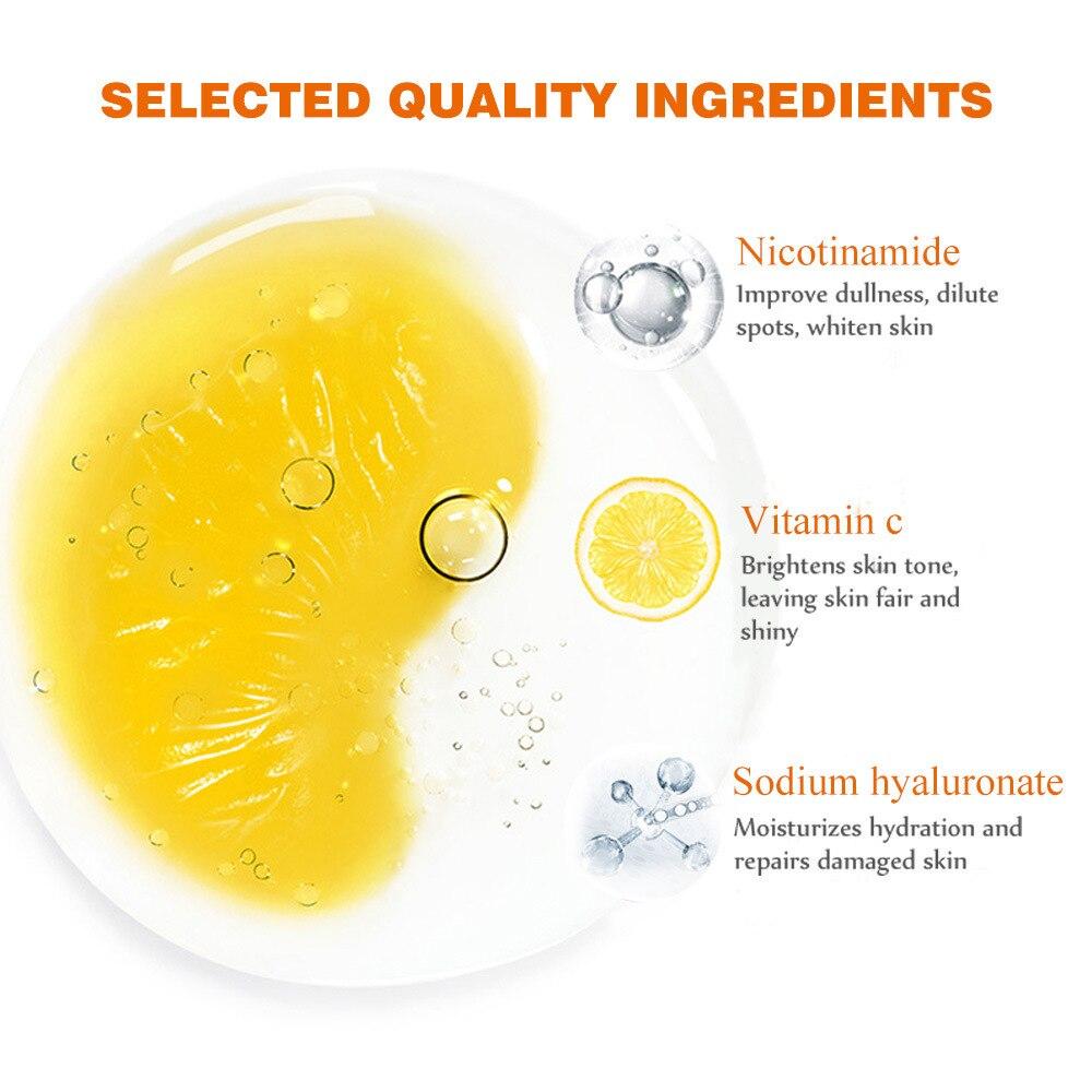 Vitamin C Facial Serum Anti Wrinkle Aging Essence Skin Whitening Freckle Creams Moisturizing Face Care Hyaluronic Acid Cream 2