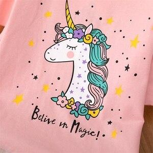 Детское летнее платье с рисунком единорога, элегантное платье принцессы для девочек, сарафан для дня рождения, одежда для детей, 2020