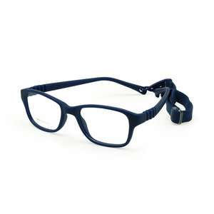 Image 1 - Boy Glasses Frame with Strap Size 43/16 One piece No Screw Safe, Optical Children Glasses, Bendable Girls Flexible Eyeglasses