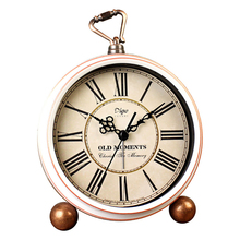 Винтажные часы, настольные украшения, на батарейках, изысканное исследование, домашний декор, для гостиной, римские цифры, подарок, отображение времени, для спальни