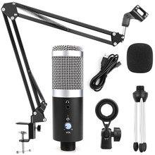 Micrófono de condensador para grabación de Podcasting, micrófono USB profesional para estudio, grabación de Podcasting, para ordenador, portátil, transmisión, Mikrofon