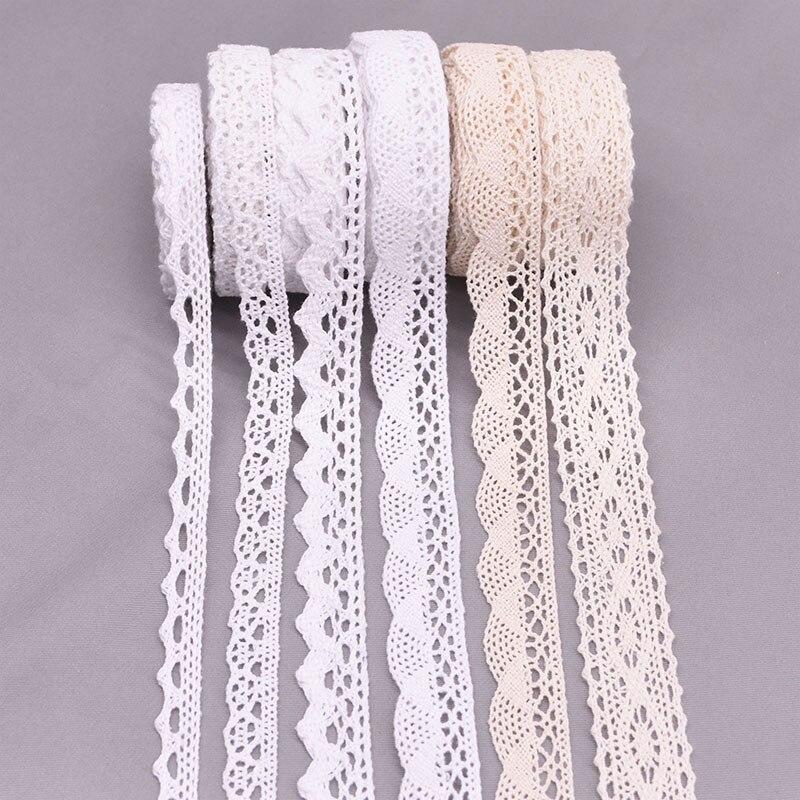 Tissu dentelle brodé Beige blanc 5/10yard   Ruban, tissu africain dentelle, tissu pour bricolage, tissu de couture, décoration artisanale 11-27mm