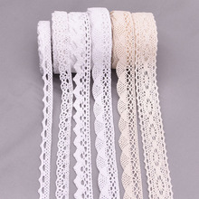 5/10yard 11-27mm White Beige Embroidered Lace Trim Net Ribbon Fabric african lace fabric For DIY Cloth Sewing Craft Decoration