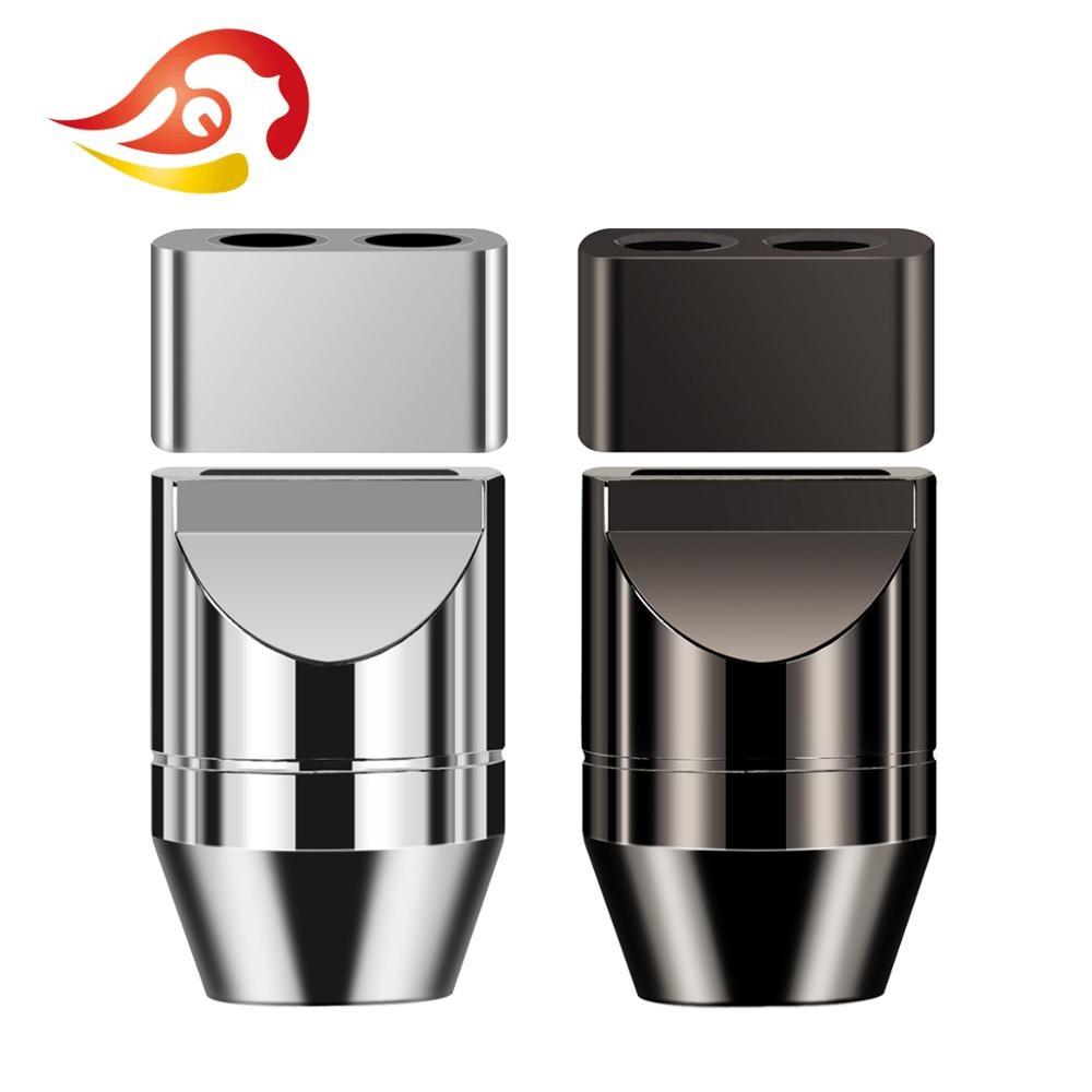 QYFANG 6.8mm To 3.4mm Aluminum Alloy Y Splitter Slider Audio Jack Metal Adapter Earphone Plug DIY Upgrade Headset Wire Connector