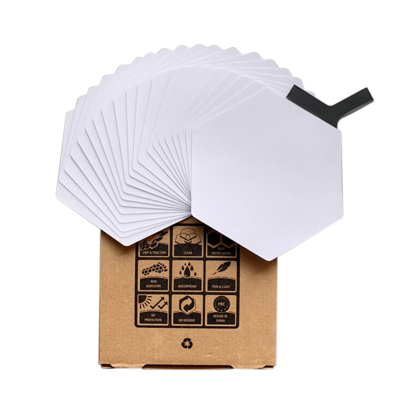 Image 5 - waxless hexagon style surfboard transparent deck traction pad 20pcs a boxSurfing   -