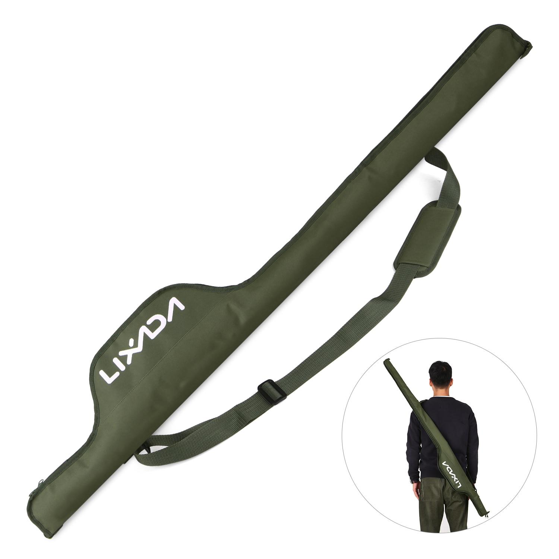 Lixada bolsa de pesca de 55 Polegada dobrável, bolsa de pesca de carpa portátil para equipamento de pesca, capa protetora