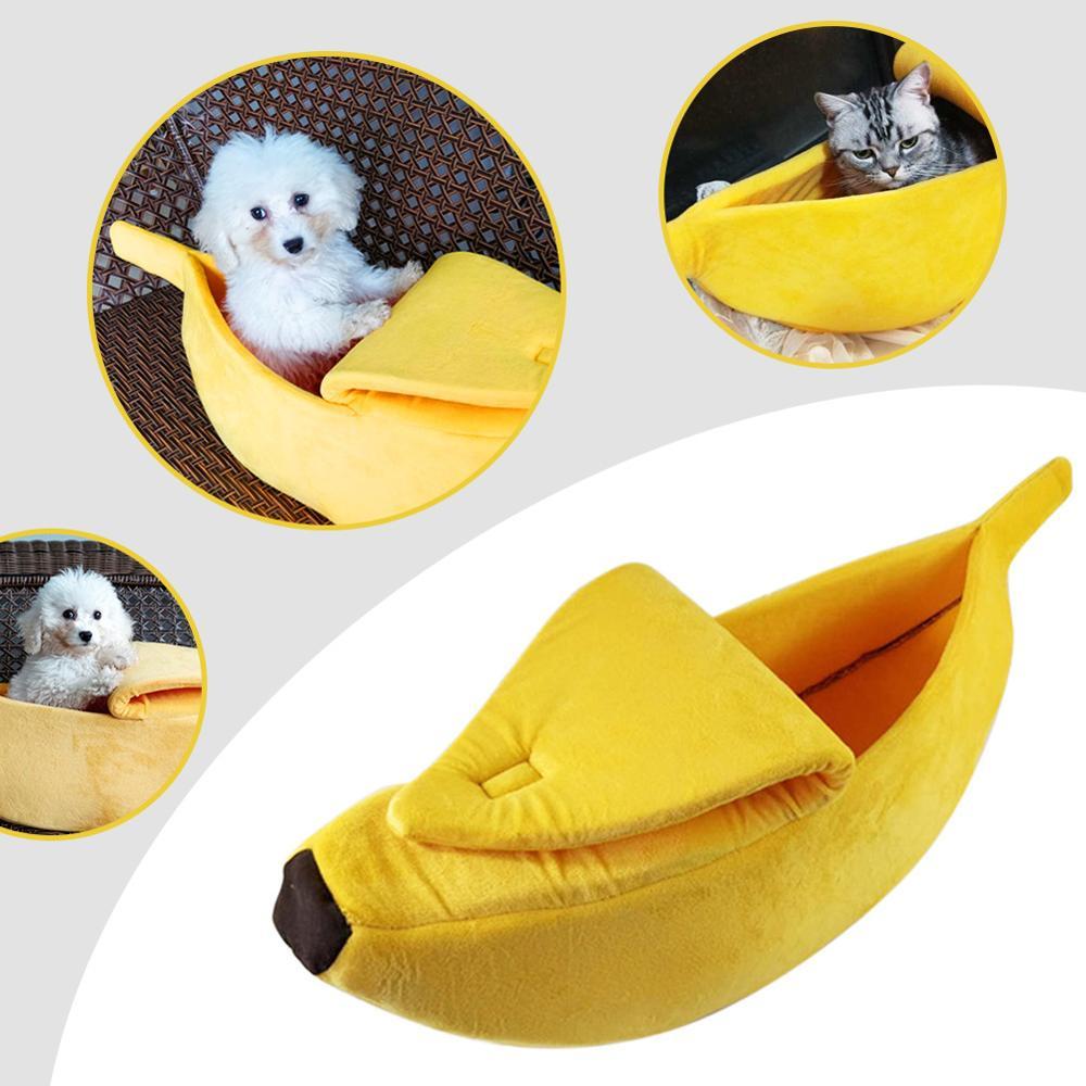 Banana Cute Dog Beds Yellow