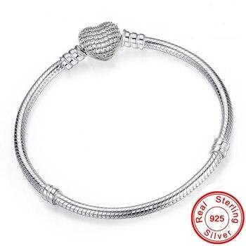 Women Silver Snake Chain Bracelet Jewelry 925 Silver Jewelry