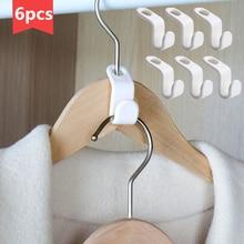 Hanger Rack Hook Storage-Organizer Coat Wardrobe Stack Space-Saving Plastic Closet Multi-Function