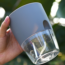 4/6/10Pcs 2 Tiers Creative Self Auto Irrigate Watering Planter Modern Storing Water Flower Pot - Grey + Transparent A709