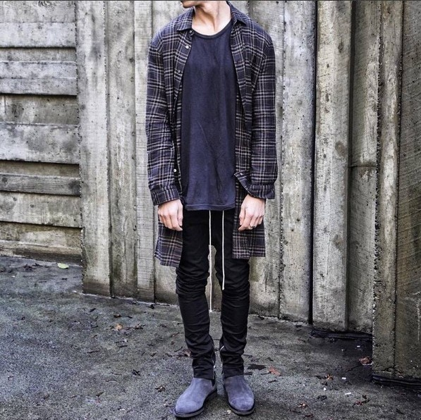 [] High Street Fog Zipper Justin Bieber Celebrity Style Slim Fit Casual Medial Crura Big Talker Skinny Pants