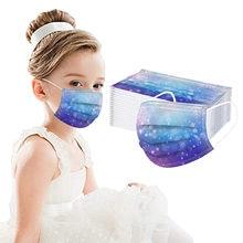 50pc que imprime a máscara descartável não tecida 3 camadas respiráveis à prova de vento máscaras de boca à prova de poeira segurança protetora mascarilla bocas