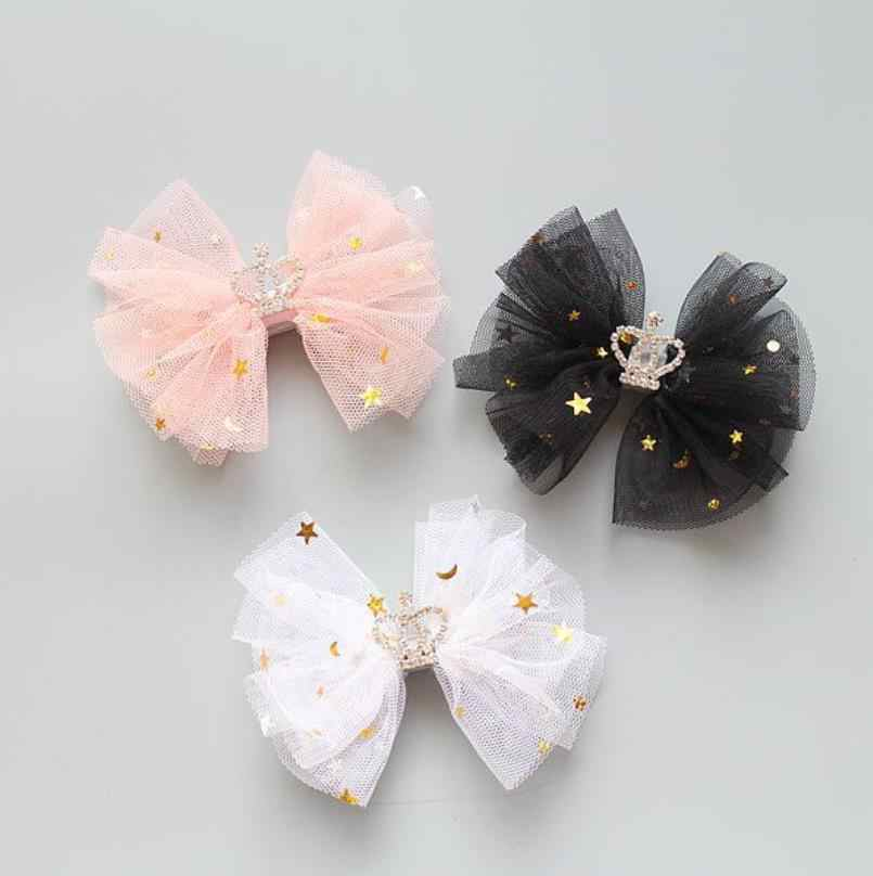 Glitter Stars Hair bow Headband Clip