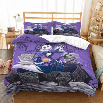 2/3 Pieces Duvet Cover The Nightmare Before Christmas Bedding Set Cartoon For Kids Bed Cover Set Luxury Home Bed Quilt Cover nightmare before christmas 4pcs bedding set duvet cover bedspread pillowcases