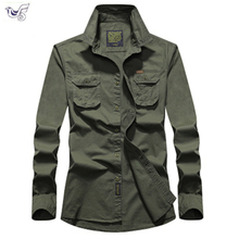 купить Tactical Shirt Men Clothes 2019 Spring Autumn Military Dress Shirt Mens Cotton Long Sleeve Army Casual Plus Size M-5XL 6XL 7XL по цене 1385.96 рублей