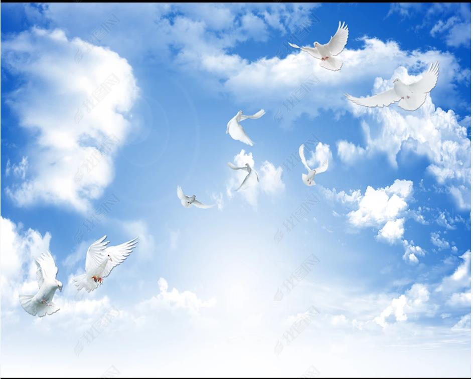 сохранить картинки небо с облаками и голубями здание