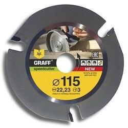 Пильный диск (круг) по дереву для УШМ (болгарки) GRAFF Speedcutter д.115 мм Z=3