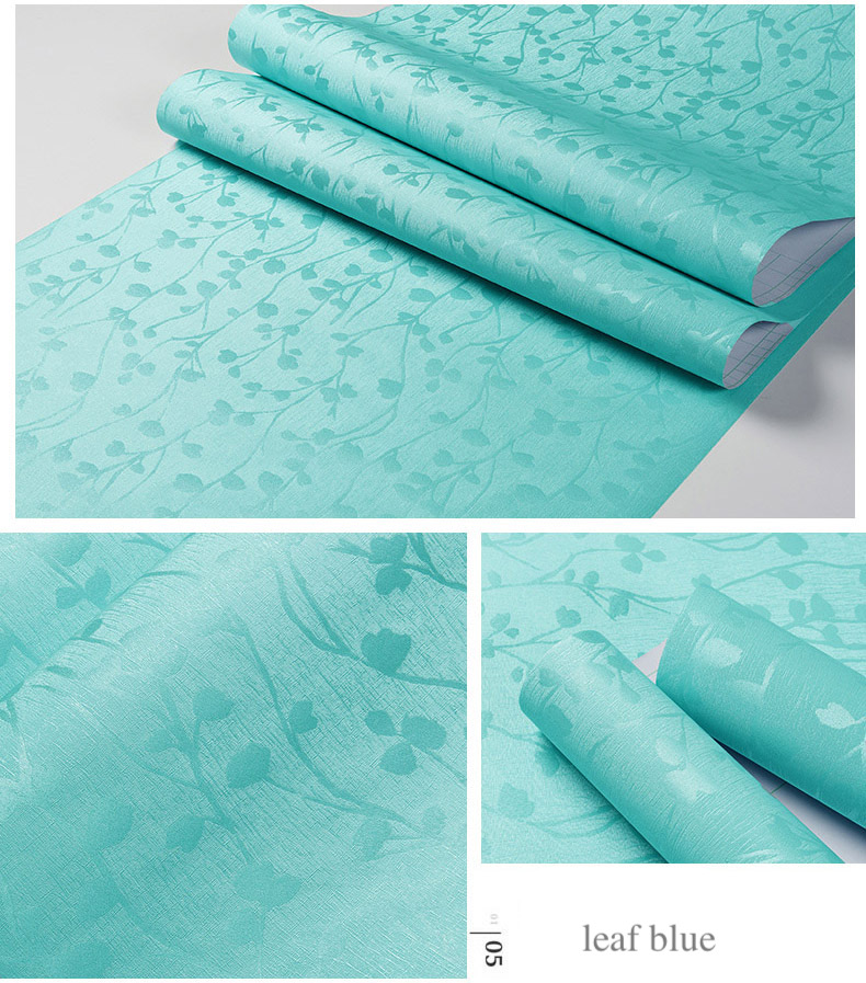 Special Embossing Flower Rose Leaf Wallpapers Bedroom Living Room Wall Decoration 3d Mural Wallpapers Pink Blue Yellow White