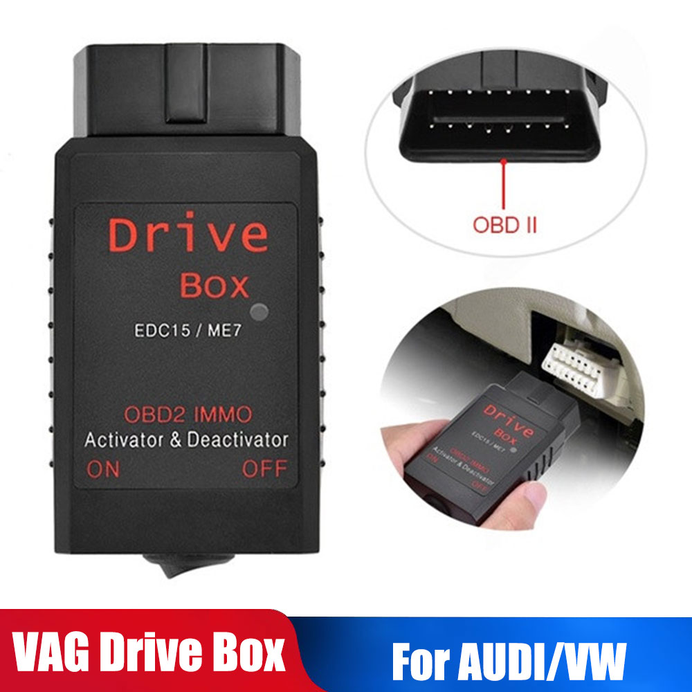 For AUDI VW Volkswagen Skoda EDC15/ME7 VAG IMMO Deactivator VAG Drive Box OBD2 OBD 2 IMMO Deactivator Activator A2 A3 A4 A6